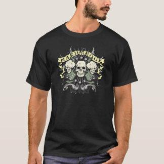 T-shirt Crâne et guitares de hard rock