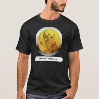 T-shirt Crâne et os croisés de balle de tennis