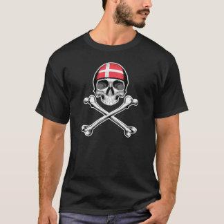 T-shirt Crâne et os croisés : Le Danemark