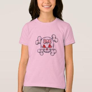 T-shirt Crâne et os Girly