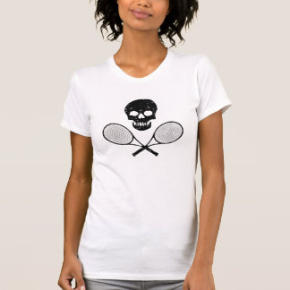 T-shirt Crâne et raquettes de tennis