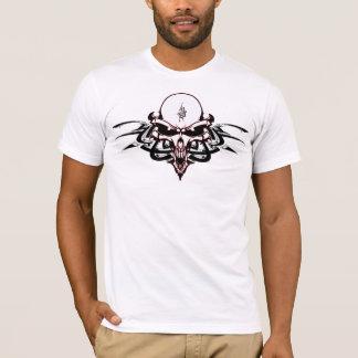 T-shirt Crâne étranger sinistre avec les inscriptions