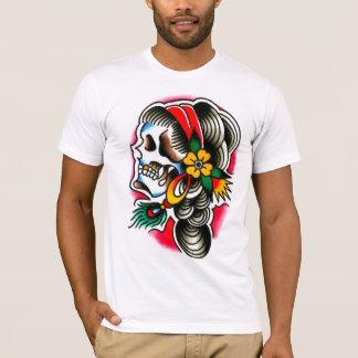 T-shirt Crâne gitan avec la plume de paon