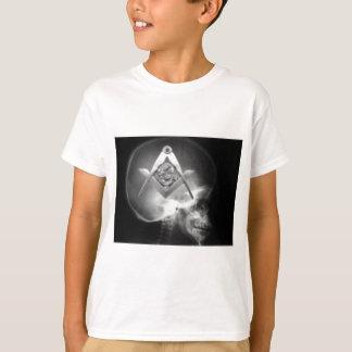 T-shirt Crâne maçonnique d'alien de rayon X