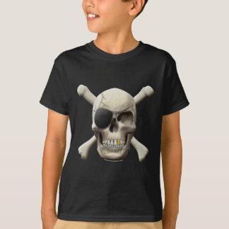 T-shirt Crâne mauvais et os croisés de pirate