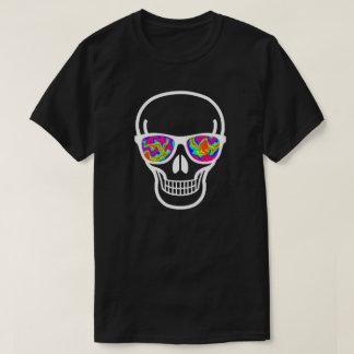 T-shirt crâne Psychopathe-eyed de geek