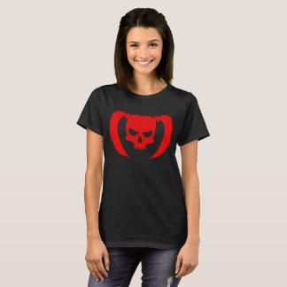 T-shirt Crâne rouge avec des tresses