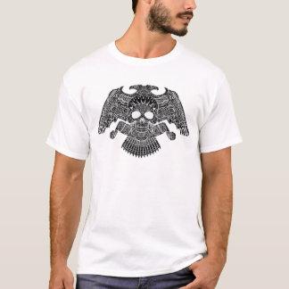 T-shirt Crâne symétrique avec des armes à feu et des