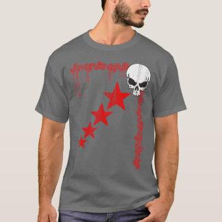 T-shirt Crâne/T-shirt affligés profil sous convention