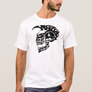 T-shirt Crâne tribal de tatouage avec le Mohawk