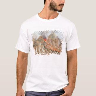 T-shirt Cratère du mont Vésuve d'un dessin original