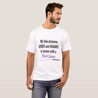 T-shirt Crayon pourpre