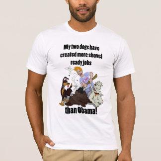 T-shirt Créant les JOBs prêts de pelle - NObama