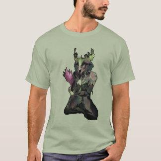 T-shirt Créature rêveuse à l'arrière-plan brut