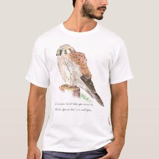T-shirt Crécerelle américaine, faune, chemise d'oiseau de