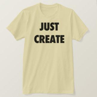 T-shirt Créez juste (le jaune)