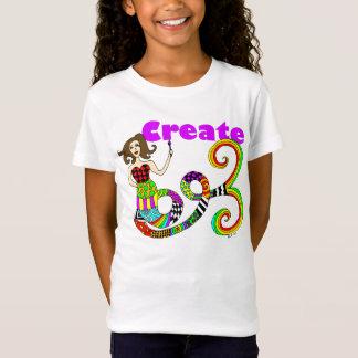 T-Shirt Créez l'enfant coloré de Muse de sirène