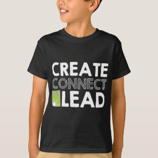 T-shirt Créez relient l'avance (foncée)