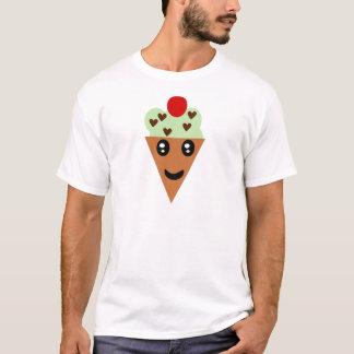 T-shirt Crème glacée en bon état de puce de chocolat de