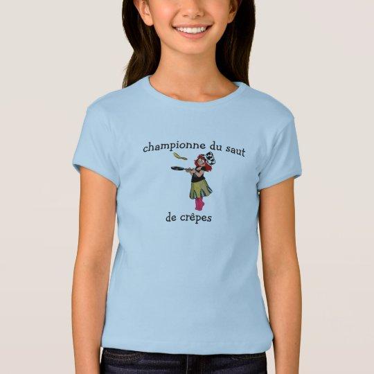 t-shirt crêpes, championne