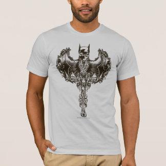 T-shirt Crête de capot et de crâne de Batman