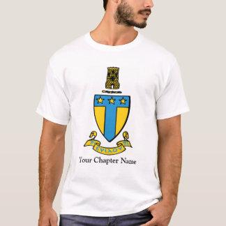 T-shirt Crête de couleur de Tau Omega d'alpha