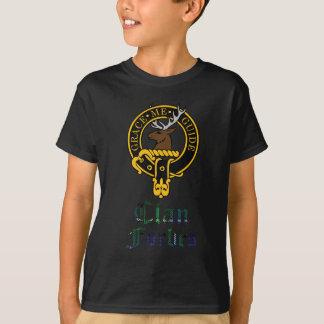 T-shirt Crête de Forbes et nom écossais de clan de tartan