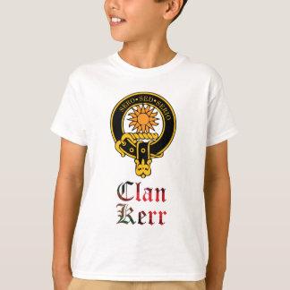 T-shirt Crête de Kerr et nom écossais de clan de tartan