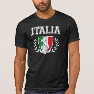 T-shirt Crête vintage de drapeau de l'ITALIE
