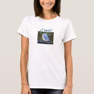 T-shirt Crétin I ! chemise d'oiseau bleu