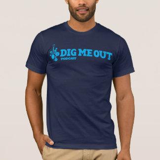 T-shirt Creusez-moi logo bleu de Horitzontal sur le