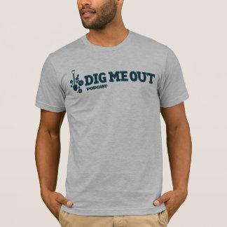 T-shirt Creusez-moi logo horizontal bleu sur Heather grise