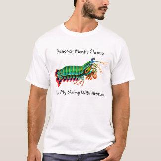 T-shirt Crevette de mante j'aime ma crevette avec la