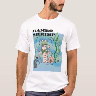 T-shirt crevette de rambo