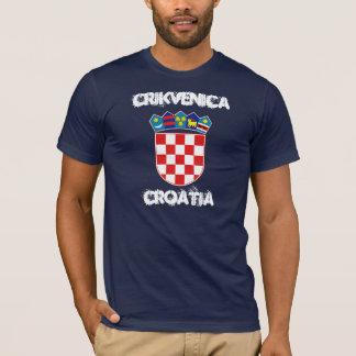 T-shirt Crikvenica, Croatie avec le manteau des bras