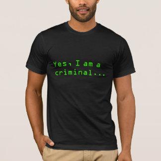 T-shirt Crime de curiosité