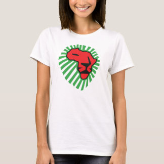 T-shirt Crinière rouge de vert de lion cette fois pour la