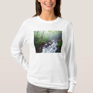 T-shirt Crique de crique de Linn cascadant par brumeux