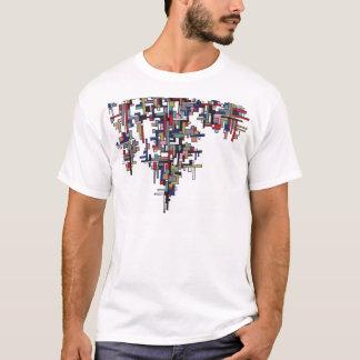 T-shirt Cristal de fractale d'abrégé sur bruit de Cyber