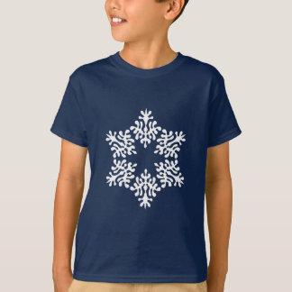 T-shirt Cristaux de glace blancs de flocon de neige