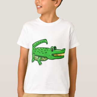T-shirt Crocodile de bande dessinée