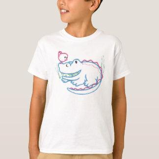 T-shirt Crocodile et oiseau heureux