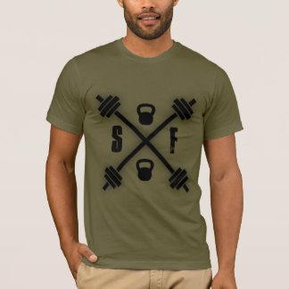 T-shirt croisé d'haltère