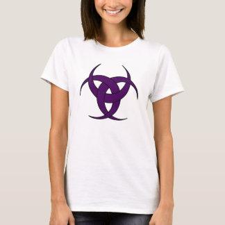 T-shirt Croissant de lune triple - marbre pourpre - 2