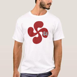 T-shirt Croix basque rouge 64 Lauburu