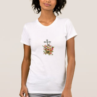 T-shirt Croix chrétienne argentée