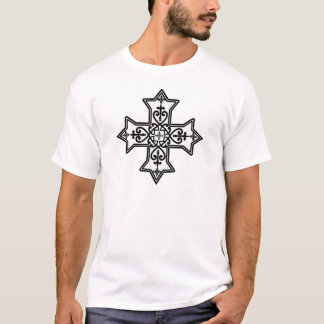 T-shirt Croix copte noire et blanche