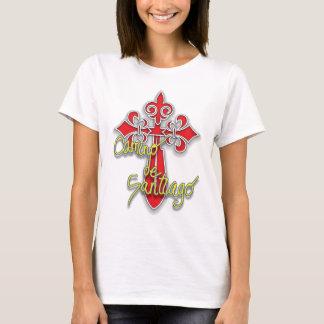 T-shirt Croix de Camino De Santiago à l'avant