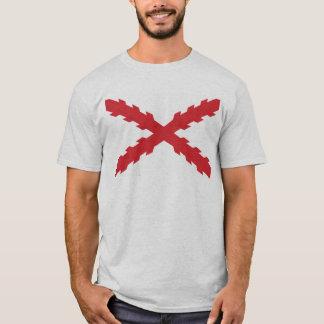 T-shirt Croix de drapeau de Bourgogne