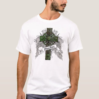 T-shirt Croix de tartan de MacKay